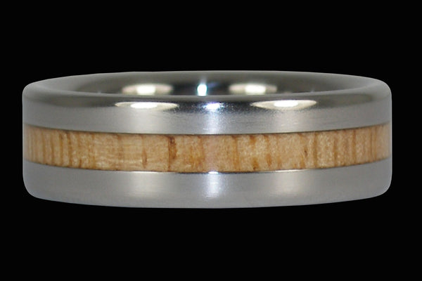 Mango Wood Narrow Inlay Ring