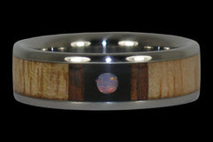 Opal Orbit Titanium Ring Band - Hawaii Titanium Rings