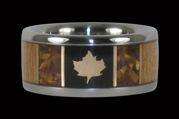 Maple Leaf Titanium Ring