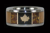 Maple Leaf Titanium Ring - Hawaii Titanium Rings  - 1