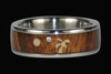 Koa Wood Diamond Titanium Ring Set - Hawaii Titanium Rings  - 3