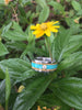 Diamond Titanium Ring Band with Turquoise and Mango Wood - Hawaii Titanium Rings  - 4
