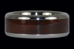 Milo Wood Inlay Ring Band - Hawaii Titanium Rings  - 1