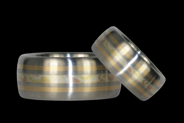 Mokumegane Titanium Ring Bands
