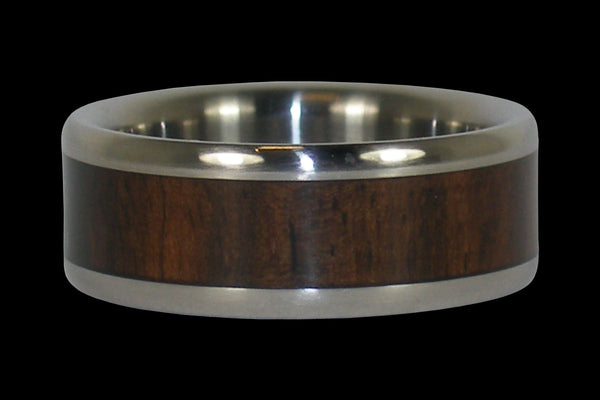 Mun Ebony Wood Titanium Ring Band