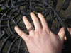 Black Wood Diamond Titanium Rings - Hawaii Titanium Rings  - 8