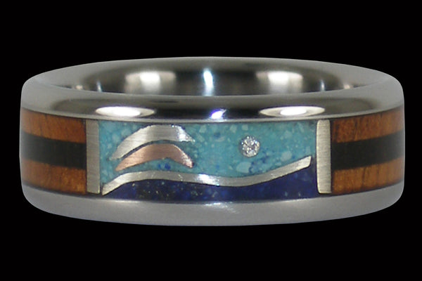 Dolphin Diamond Hawaii Titanium Ring®