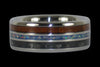 Hawaiian Koa Wood and Gray Carbon Fiber Titanium Ring - Hawaii Titanium Rings