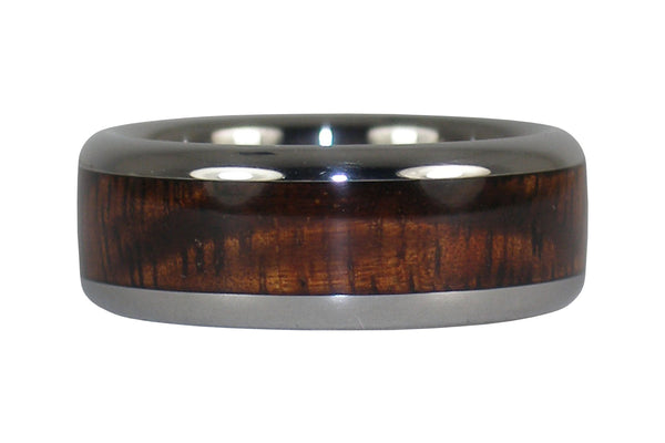 Dark Tiger Koa Wood Titanium Ring