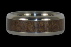 Ohia Wood Titanium Ring - Hawaii Titanium Rings  - 1