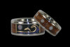 Opal Cabochon Titanium Ring Band with Exotic Wood Inlay - Hawaii Titanium Rings  - 2