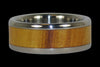 Osage Wood Inlay Titanium Ring Band - Hawaii Titanium Rings  - 1