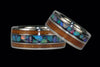 Australian Opal and Hawaiian Koa Titanium Ring - Hawaii Titanium Rings  - 4