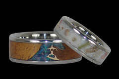 Surf and Sand Titanium Wedding Bands - Hawaii Titanium Rings  - 1