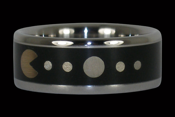 Pac Man Gamer Titanium Ring