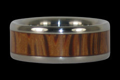 Palm Wood Titanium Ring - Hawaii Titanium Rings  - 1