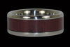 Purpleheart Titanium Ring Bands - Hawaii Titanium Rings  - 2