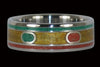 Rasta Titanium Ring - Hawaii Titanium Rings  - 1