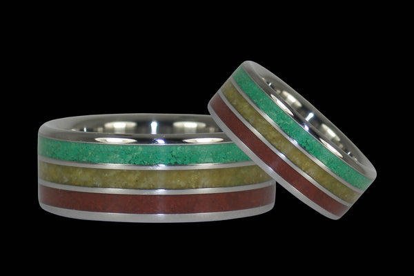 Bob Marley Wedding Rings From Hawaii Titanium Rings®