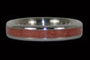 Red Coral Stack Ring - Hawaii Titanium Rings  - 1