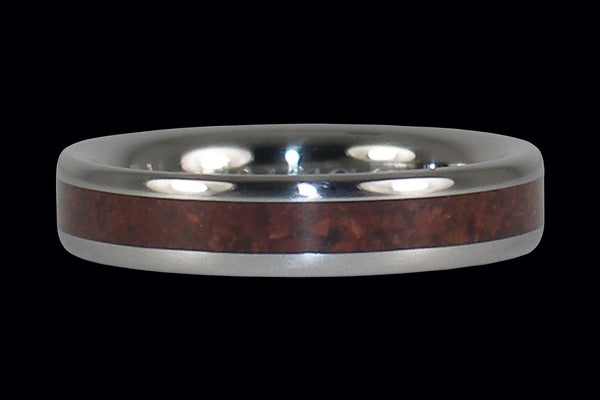Red Tigers Eye Thin Stack Ring