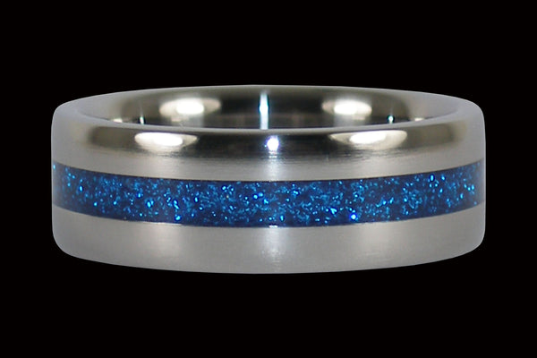Blue Metallic Titanium Rings