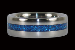 Blue Metallic Titanium Rings - Hawaii Titanium Rings  - 1