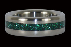 Green Titanium Ring - Hawaii Titanium Rings  - 1