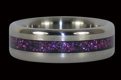 Purple Metallic Inlay Titanium Ring - Hawaii Titanium Rings