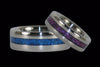 Blue Metallic Titanium Rings - Hawaii Titanium Rings  - 2