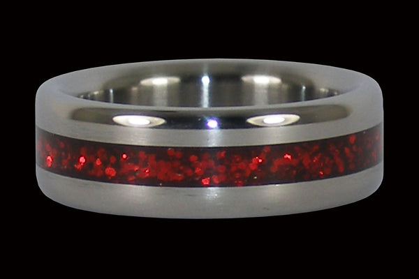 Red Metallic Titanium Ring
