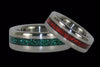 Green Titanium Ring - Hawaii Titanium Rings  - 2