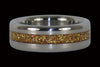 Gold Metallic Flake Inlay Titanium Ring Set - Hawaii Titanium Rings  - 3