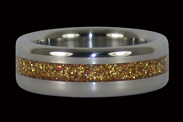 Gold Metal Titanium Ring