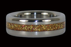 Gold Metal Titanium Ring - Hawaii Titanium Rings  - 1