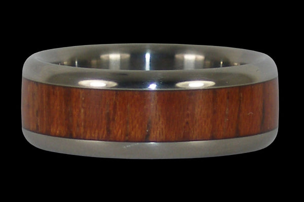 Robusta Wood Titanium Ring Band