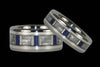 Lapis Titanium Ring with White Carbon Fiber - Hawaii Titanium Rings  - 2