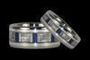 Blue Lapis Lazuli Titanium Ring with White Carbon Fiber and Sterling Silver - Hawaii Titanium Rings  - 2