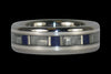 Blue Lapis Lazuli Titanium Ring with White Carbon Fiber and Sterling Silver - Hawaii Titanium Rings  - 1