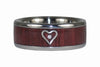 Silver Heart Mothers Day Titanium Diamond Ring - Hawaii Titanium Rings  - 2