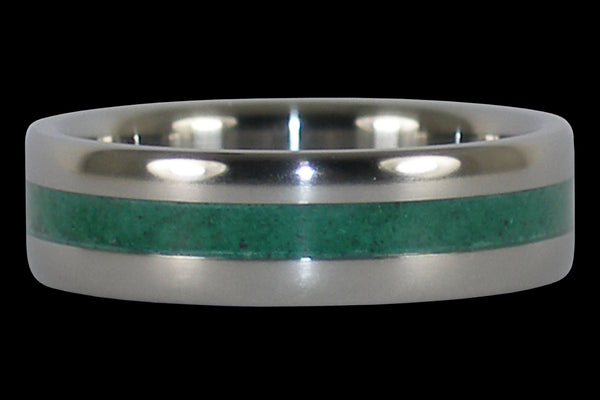 Malachite Titanium Ring Band