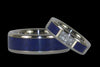 Blue Lapis Titanium Ring - Hawaii Titanium Rings  - 4