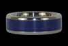 Blue Lapis Titanium Ring - Hawaii Titanium Rings  - 2