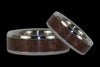 Red Tigers Eye Titanium Ring Set - Hawaii Titanium Rings  - 1