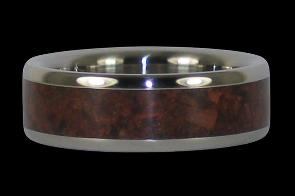 Red Tigers Eye Titanium Ring