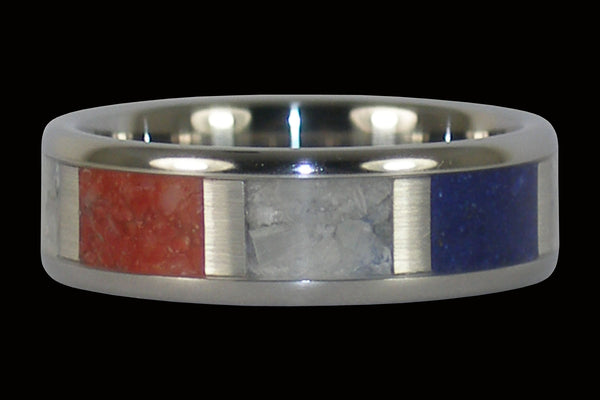 Fourth of July Titanium Ring