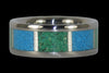 December Birthstone Turquoise Titanium Ring - Hawaii Titanium Rings  - 1