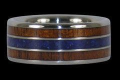 Big Kahuna Titanium Ring with Lapis - Hawaii Titanium Rings  - 1