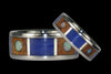 Opal Cabochon Titanium Ring with Koa and Lapis - Hawaii Titanium Rings  - 2