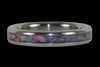 Red Australian Opal Titanium Ring Bands - Hawaii Titanium Rings  - 3